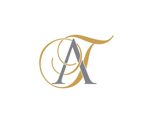 Fototapeta AT TA Letter Logo Icon 002 obraz