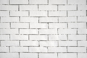clear simple white brick on the wall for background or backdrop