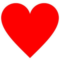 Heart symbol icon - red simple, isolated - vector