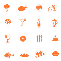 Vector illustration . Icons for the menu.