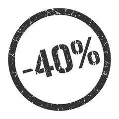 -40% stamp