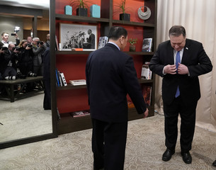 U.S. Secretary of State Pompeo meets with senior North Korean envoy Kim Yong Chol in Washington