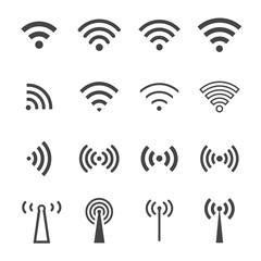 wireless network icon set