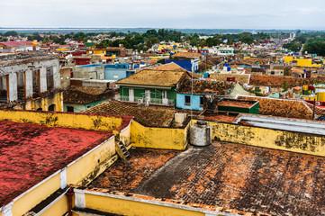 The view over colonial village of Trinidad, Cuba. Trinidad is a Unesco World Heritage site.