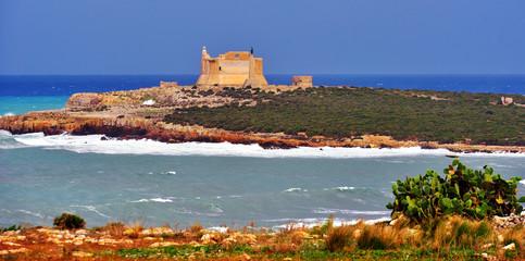 Capo Passero Island, Portopalo, Syracuse, Sicily, Italy