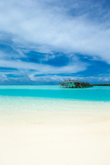 Stores à enrouleur Tropical plage tropical Maldives island with white sandy beach and sea