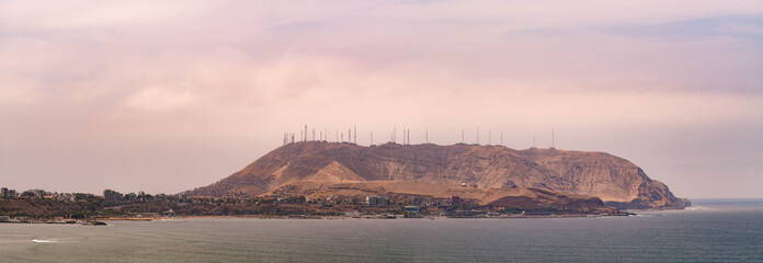 Lima, the capital of Peru, lies on the country's arid Pacific coast. Though its colonial center is preserved, it's a bustling metropolis and one of South America's largest cities.