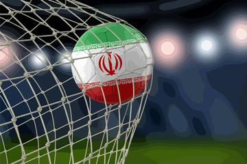 Iranian soccerball in net