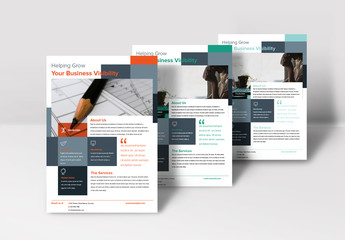 Flyer Layout with Abstract Rectangle Elements
