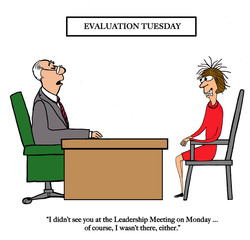 Manager is giving mixed evaluation to employee.