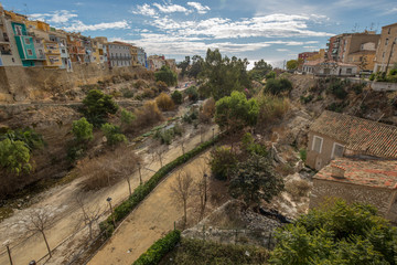 View on the houses of the village Joiosa, Alicante, Spain