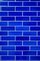 Blue tiles on a London building