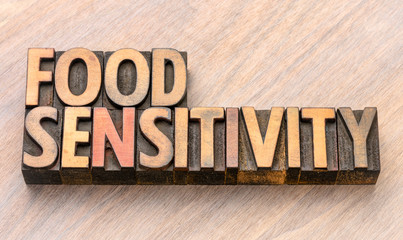 food sensitivity word in wood type
