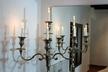 Kerzenständer Silber