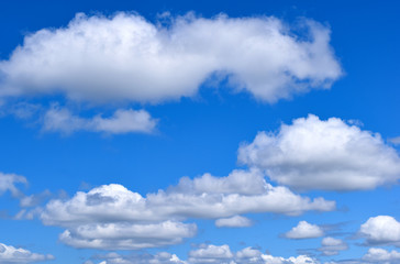 Blue Clear Cloudy Sky Atmosphere Background Clouds