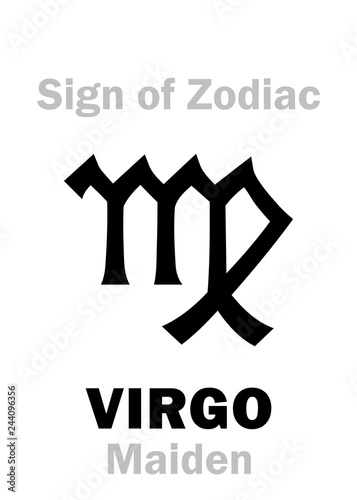 Astrology Alphabet: Sign of Zodiac VIRGO (The Maiden