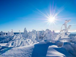 Verschneite Winterlandschaft im Erzgebirge