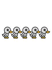 viele küken freunde team crew party chicks huhn baby vogel kleines kind süß niedlich comic cartoon clipart ente design