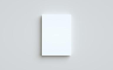 A5 Flyer / Brochure Mock-Up - One Stack of Flyers. 3D Illustration