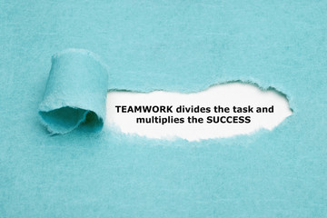 Teamwork Divides Task And Multiplies Success