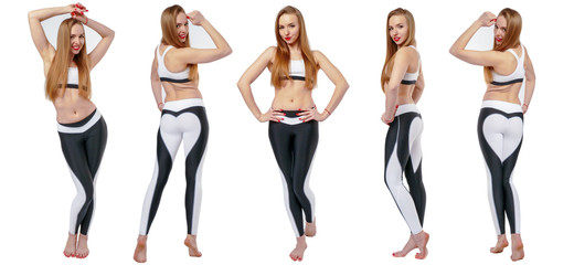 Young attractive woman in fitnes wear