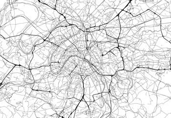 Area map of Paris, France
