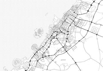 Area map of Dubai, United Arab Emirates