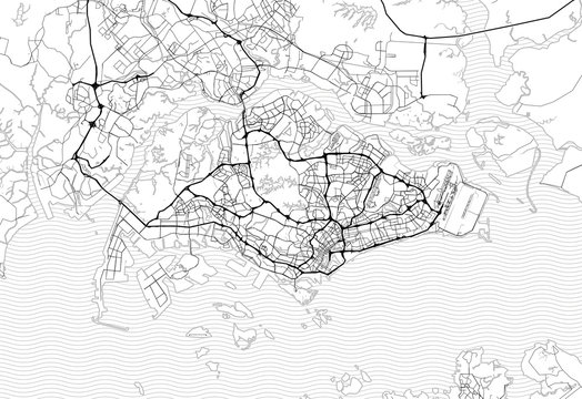Area map of Singapore, Singapore