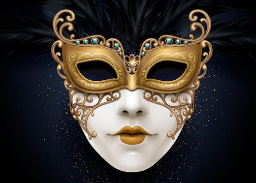 Carnival beautiful mask