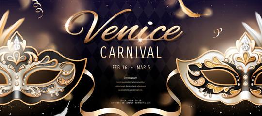 Venice carnival banner Wall mural