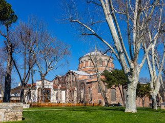 The building of the Byzantine church of St. Irene in Istanbul, Turkey