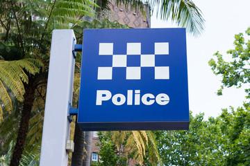Australian police station sign in Sydney Australia