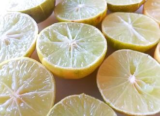 Half yellow lime.