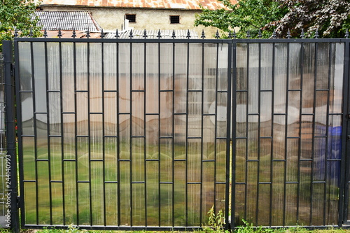 Forged decorative fence ,gate,door with polycarbonate