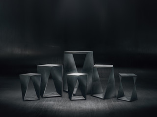 abstract pedestal for display,Platform for design,Blank product stand.3D rendering