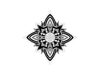 mandala Ornamental black symmetric design illustration tutorial tattoo