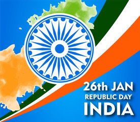 illustration of Indian republic design celebration for 26th January Republic Day of India - Vector