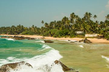 Foto op Plexiglas Caraïben Perfect paradise beach tropical island background