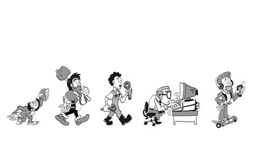 The evolution of work in black and white