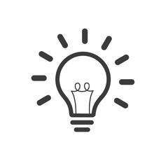 Light Bulb line icon vector