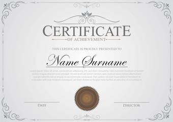 Certificate template gray color background