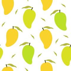 Mango pattern vector isolated on white background