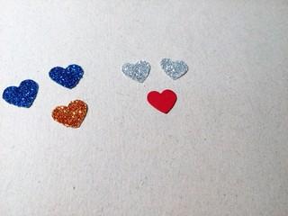 Figuras hechas con corazones