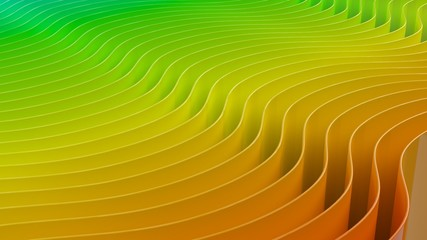 rainbow geometric curved colorful prism light 3d illustration