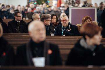 WOSP founder Owsiak attends Gdansk mayor Adamowicz funeral at St Mary's Basilica in Gdansk