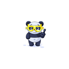 panda thumbs up with glasses crypto currency