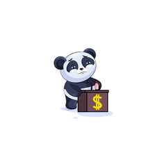 panda sticker emoticon training presentation