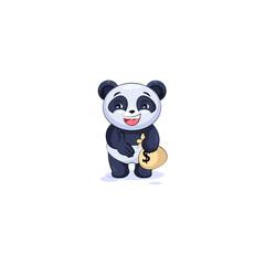 panda extend hand offer business deal