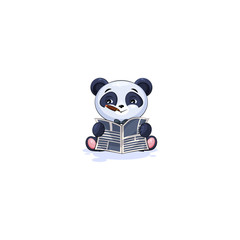 panda with cigar reading newspaper