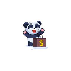 panda training presentation behind podium